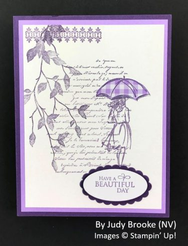 by Judy Brooke, Sending Love One-for-One Card Swap, Stampin Up!