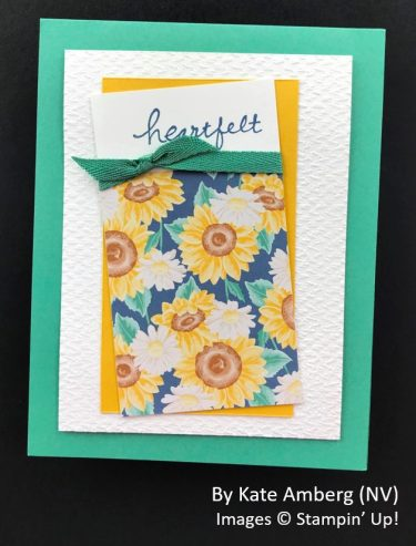 by Kate Amberg, Sending Love One-for-One Card Swap, Stampin Up!