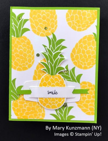 by Mary Kunzmann, Sending Love One-for-One Card Swap, Stampin Up!
