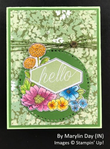by Marylin Day, Sending Love One-for-One Card Swap, Stampin Up!
