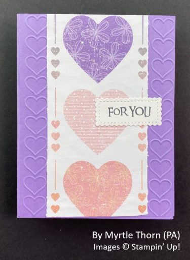 by Myrtle Thorn, Sending Love One-for-One Card Swap, Stampin Up!