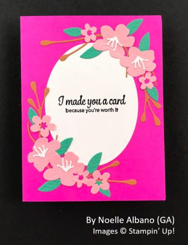 by Noelle Albano, Sending Love One-for-One Card Swap, Stampin Up!