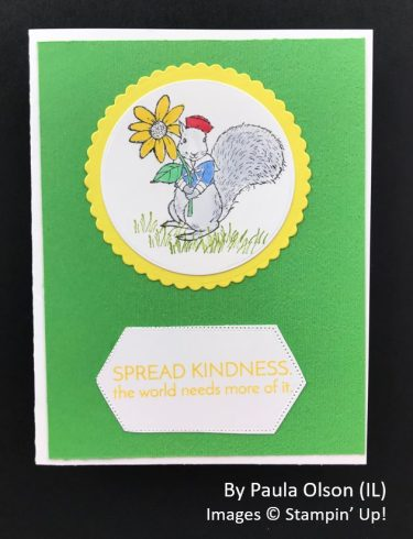 by Paula Olson, Sending Love One-for-One Card Swap, Stampin Up!