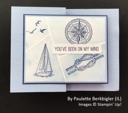 by Paulette Berkbigler, Sending Love One-for-One Card Swap, Stampin Up! 1