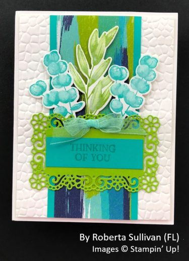 by Roberta Sullivan, Sending Love One-for-One Card Swap, Stampin Up!