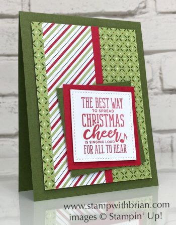 Christmas Means More, Heartwarming Hugs Designer Series Paper, Stampin Up!, Brian King
