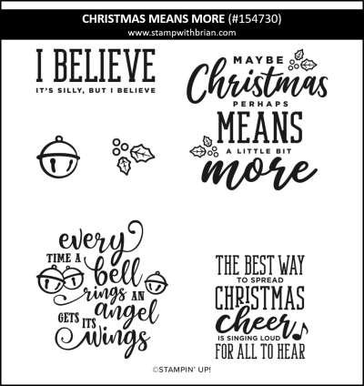 Christmas Means More, Stampin Up!, 154730