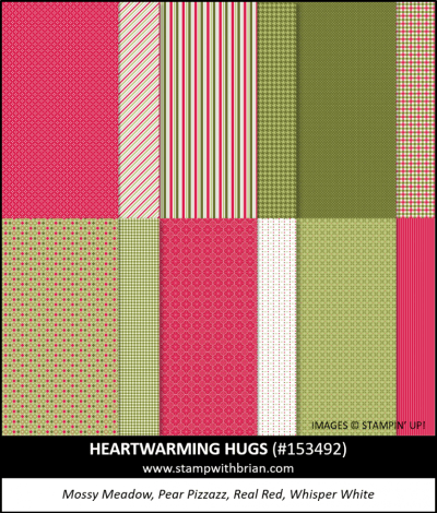 Heartwarming Hugs Designer Series Paper, Stampin Up!, 153492