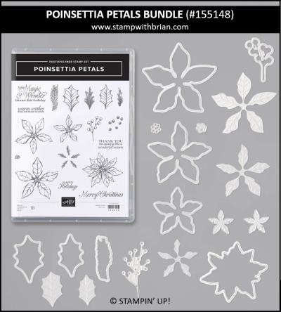 Poinsettia Petals Bundle, Stampin Up! 155148
