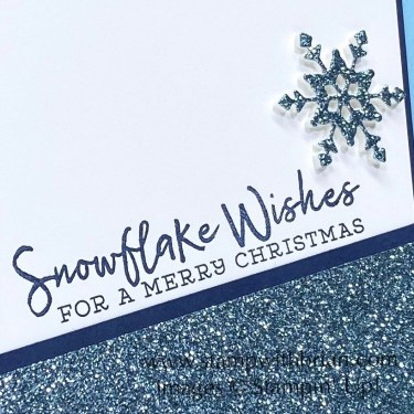 Snowflake Wishes Bundle, Balmy Blue Glimmer Paper, Stampin Up!, Brian King