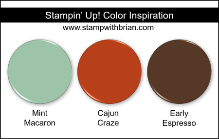 Stampin Up! Color Inspiration - Mint Macaron, Cajun Craze, Early Espresso