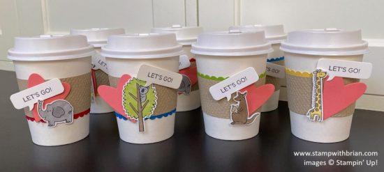 Zoo Globe, Warm Wraps Dies, Mini Coffee Cups, Stampin Up!, Brian King