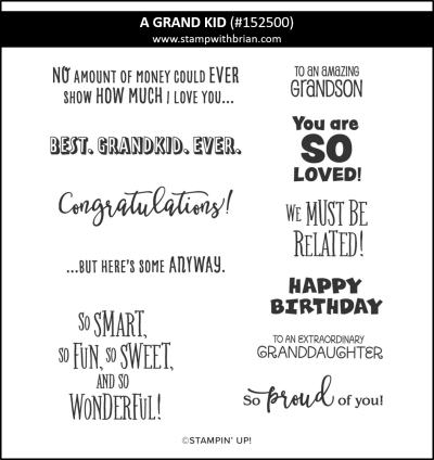 A Grand Kid, Stampin Up! 152500