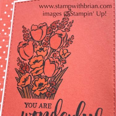 Jar of Flowers, Rooted in Nature, Stampin Up!, Brian King, thank you card