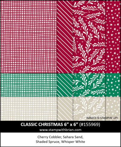 Classic Christmas Designer 6x6 Series Paper, Stampin Up!, 155969