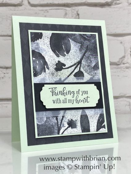 Peaceful Moments, Stampin Up!, Brian King, sympathy card