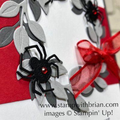 Wreath Builder Dies, Stampin Up!, Brian King, Halloween wreath