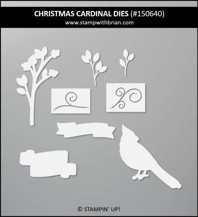 Christmas Cardinal Dies, Stampin Up! 150640