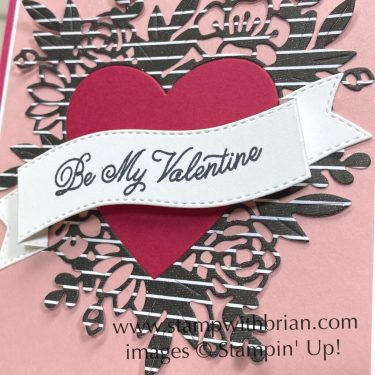 Always in My Heart Bundle, Stampin Up!, Brian King, Valentines Day card