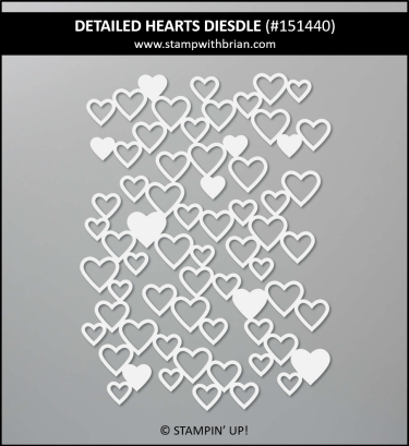 Detailed Hearts Dies, Stampin Up! 151440