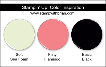 Stampin Up! Color Inspiration - Soft Sea Foam, Flirty Flamingo, Basic Black