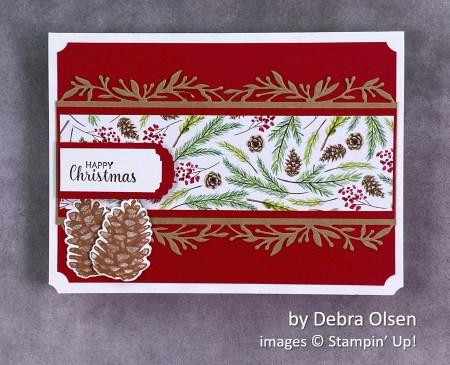 by Debra Olsen, Stampin Up! Christmas card