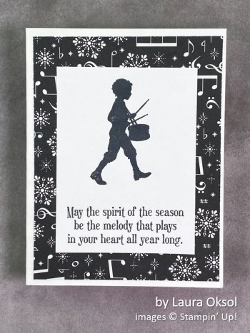 by Laura Oksol, Stampin Up! Christmas card