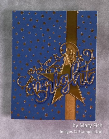 by Mary Fish, Stampin Up! Christmas card