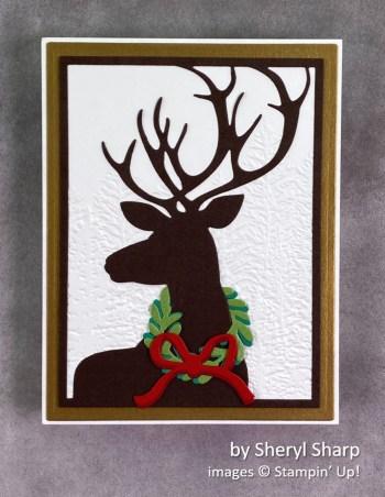 by Sheryl Sharp, Stampin Up! Christmas card