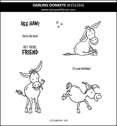 Darling Donkeys, Stampin Up!, 155264