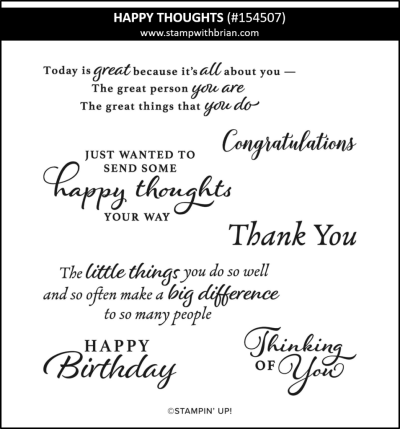 Happy Thoughts, Stampin Up! 154507