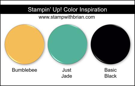 Stampin Up! Color Inspiration - Bumblebee, Just Jade, Basic Black
