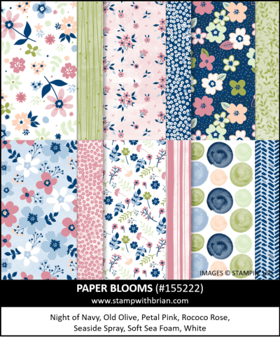 Paper Blooms Designer Series Paper, Stampin Up! 155222