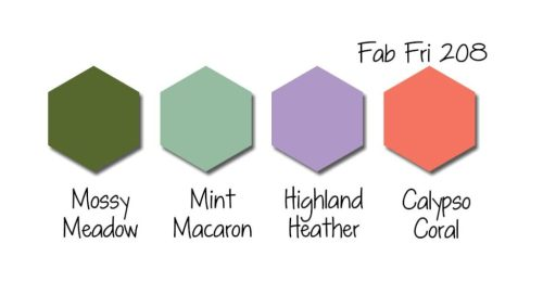 Stampin Up! Color Inspiration - Mossy Meadow, Mint Macaron, Highland Heather, Calypso Coral