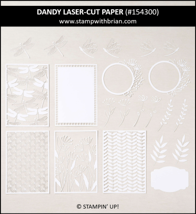 Dandy Laser-Cut Paper, Stampin Up!, 154300