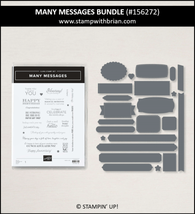 Many Messages Bundle, Stampin Up!, 156272
