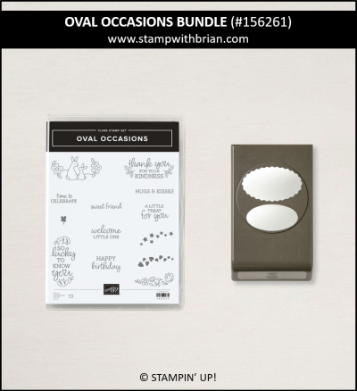 Oval Occasions Bundle, Stampin Up!, Brian King
