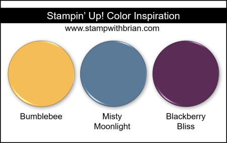 Stampin Up! Color Inspiration - Bumblebee, Misty Moonlight, Blackberry Bliss