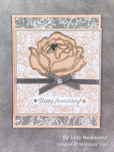 by Judy Newsome, Stampin Up!, swap card