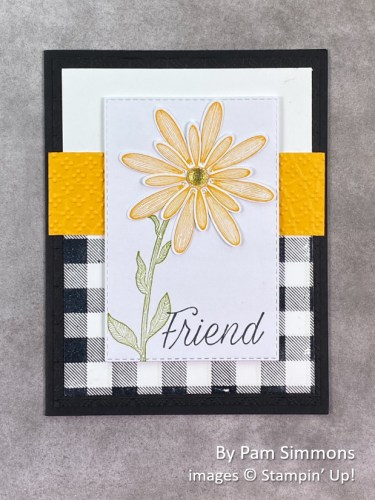 by Pam Simmons, Stampin Up!, swap card