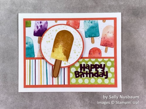 by Sally Nusbaum, Stampin Up!, swap card