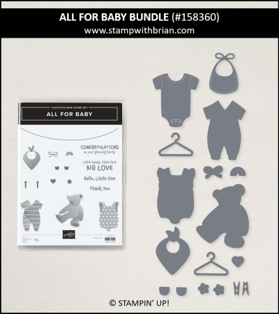 All for Baby Bundle, Stampin Up! 158360