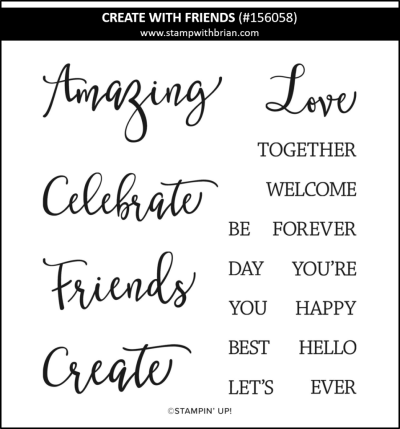 Create with Friends, Stampin Up! 156058