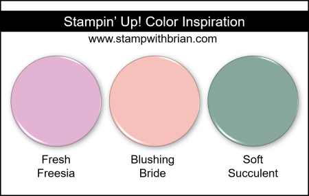 Stampin Up! Color Inspiration - Fresh Freesia, Blushing Bride, Soft Succulent