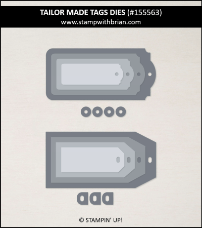 Tailor Made Tags Dies, Stampin Up!, 155563