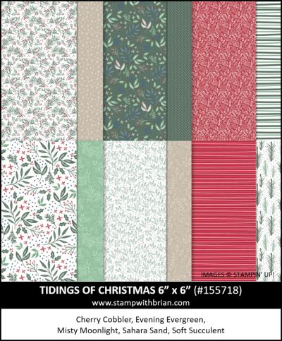 Tidings of Christmas Designer Series Paper, Stampin Up!, 155718