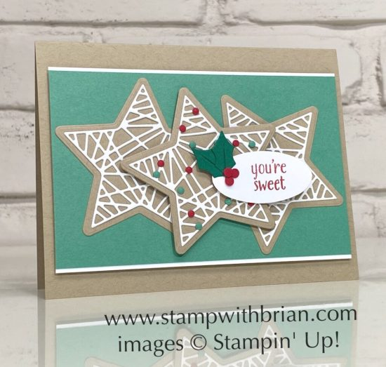 Christmas Tidings Dies, Banner Year, Stampin Up!, Brian King