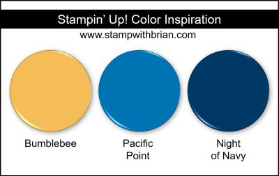 Stampin Up! Color Inspiration - Bumblebee, Pacific Point, Night of Navy