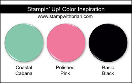 Stampin Up! Color Inspiration - Coastal Cabana, Polished Pink, Basic Black