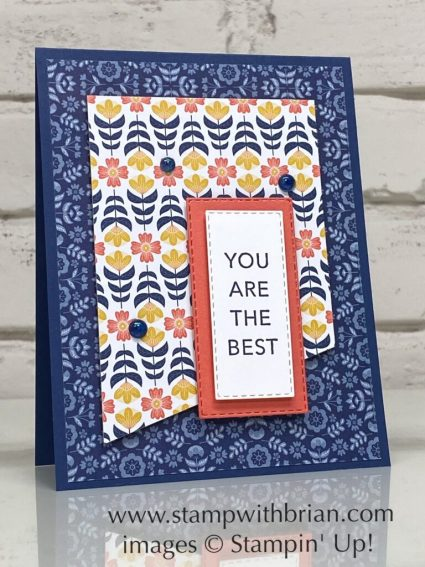 Tasteful Touches, Sweet Symmetry, Stampin Up!, Brian King